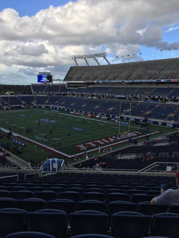 Camping World Stadium Section P25 Row U Seat 28