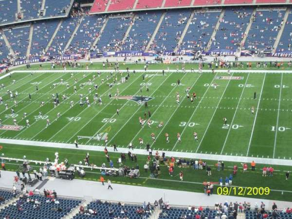 Gillette Stadium, section: 326, row: 2