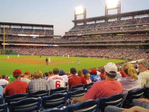 Citizens Bank Park, section: 135, row: 18