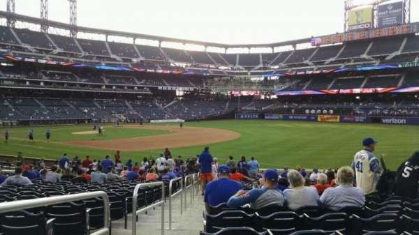 Citi Field, section: 109, row: 20, seat: 1