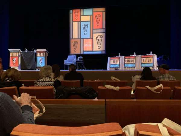 Eccles Theater, section: Orchestra C, row: B, seat: 5
