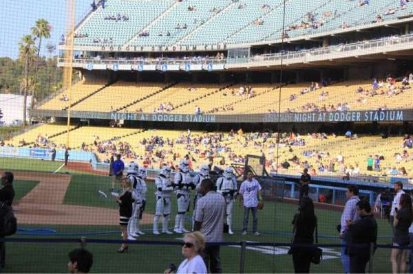 Dodger Stadium, section: 5DG, row: AA, seat: 1