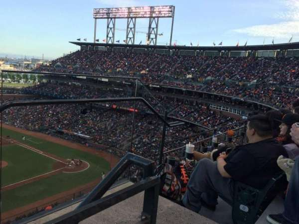 Oracle Park, section: VR325, row: 1, seat: 2