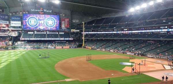 Minute Maid Park , section: 210, row: 1, seat: 10