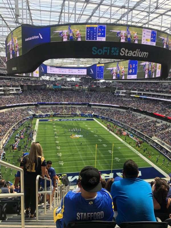 SoFi Stadium, section: 308, row: 20, seat: 25