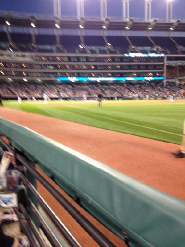 Progressive Field, section: 129, row: A, seat: 4