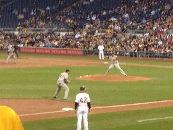 PNC Park, section: 127, row: J, seat: 4