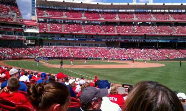 Great American Ball Park, section: 134, row: I, seat: 9