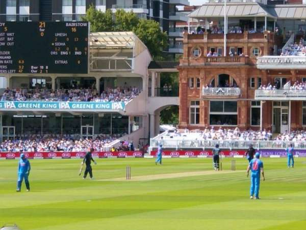 Lord's Cricket Ground, section: Compton Lower Stand, row: 4, seat: 10