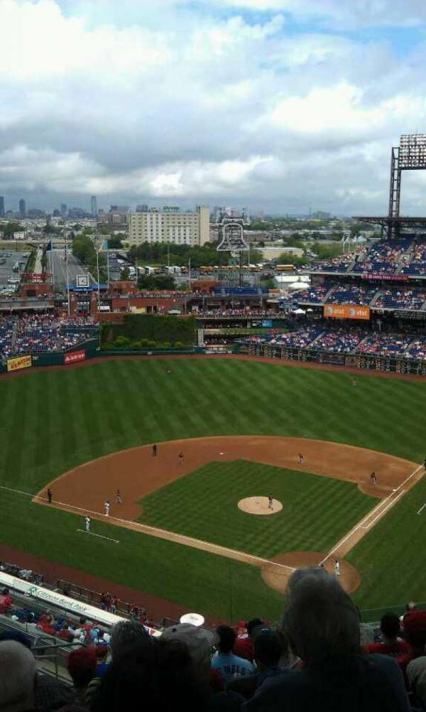 Citizens Bank Park, section: 422, row: 15, seat: 24