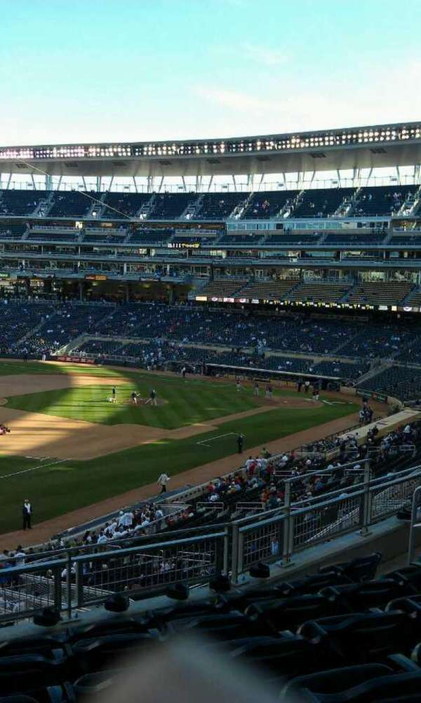 Target Field, section: T, row: 6, seat: 11