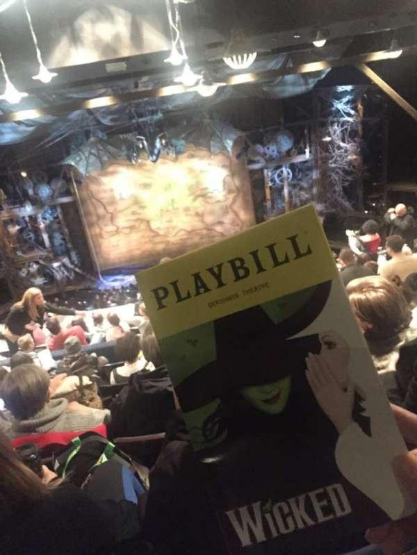 Gershwin Theatre, section: Rear Mezzanine C, row: L, seat: 109