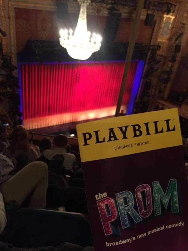 Longacre Theatre, section: Balcony L, row: F, seat: 18