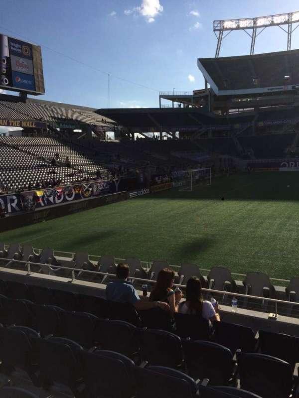 Camping World Stadium, section: 111, row: J, seat: 3