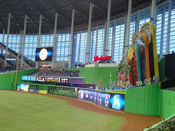 Marlins Park, section: 35, row: a-4, seat: 3