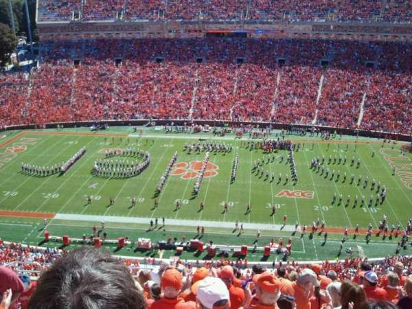 Memorial Stadium, Clemson, section: Tdp, row: M, seat: 6