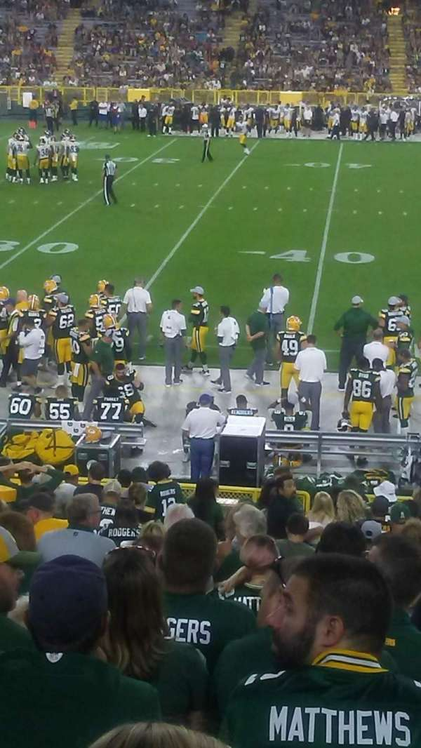 Lambeau Field, section: 118, row: 23, seat: 13