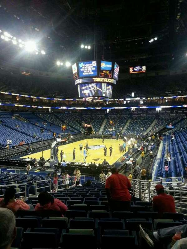 Smoothie King Center, section: 117, row: 22, seat: 12