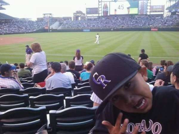 Coors Field, section: 117, row: 12, seat: 8