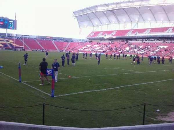 Rio Tinto Stadium, section: 13, row: D, seat: 3