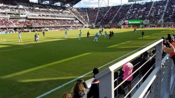 Audi Field, section: 131, row: 1, seat: 1
