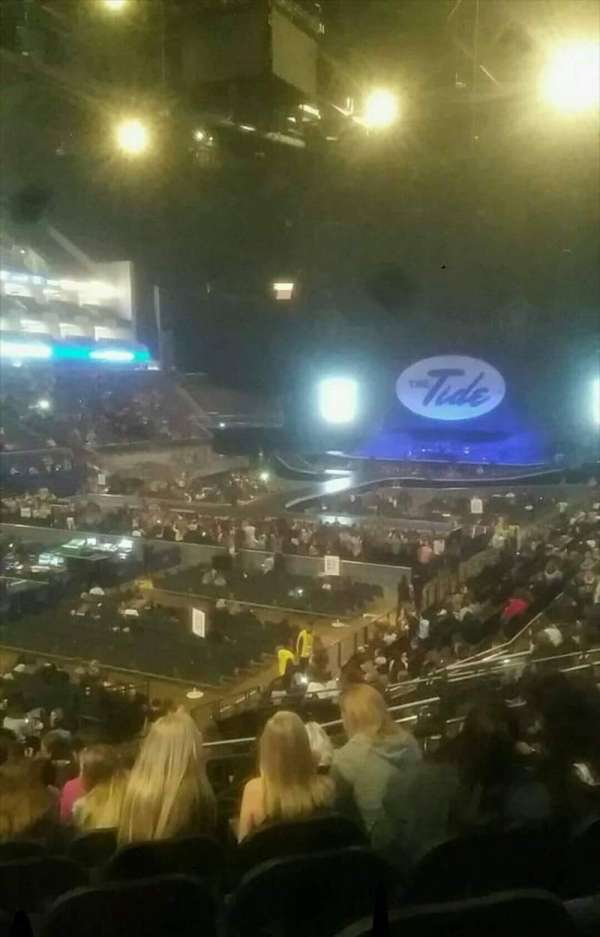 The O2 Arena, section: 109, row: W, seat: 259