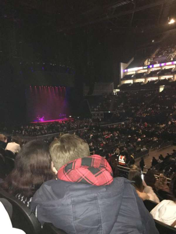 The O2 Arena, section: 102, row: R, seat: 86
