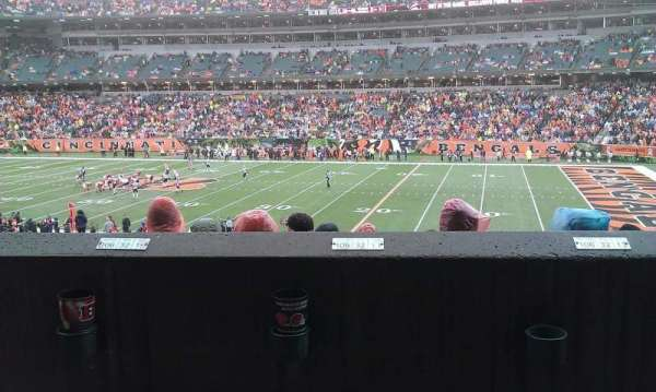 Paul Brown Stadium, section: 106, row: 32, seat: 14