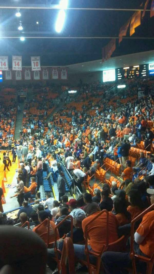 Don Haskins Center, section: X, row: 8, seat: 2