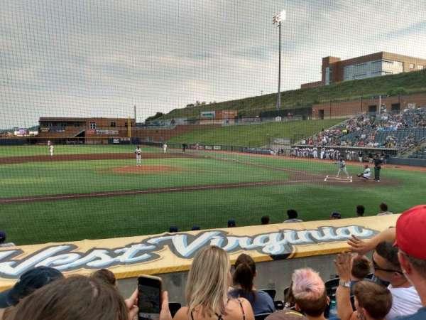 Monongalia County Ballpark, section: 102, row: G, seat: 3
