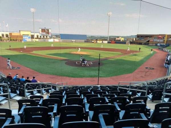 Monongalia County Ballpark, section: 105, seat: 4
