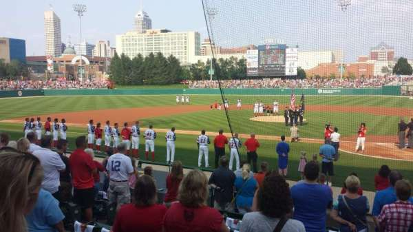 Victory Field, section: 110, row: F, seat: 1