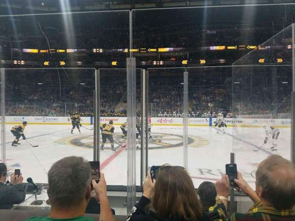 TD Garden, section: Loge 12, row: 5, seat: 5