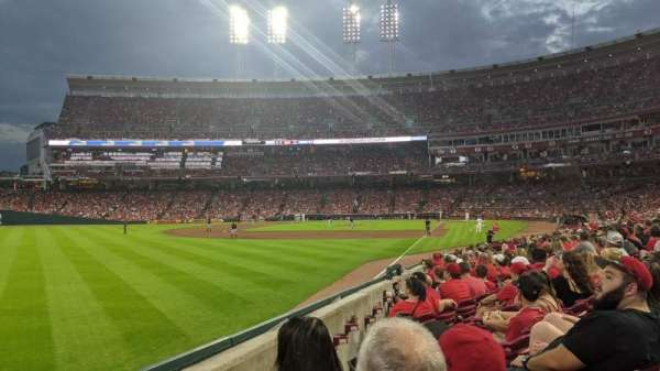 Great American Ball Park, section: 109, row: R, seat: 17