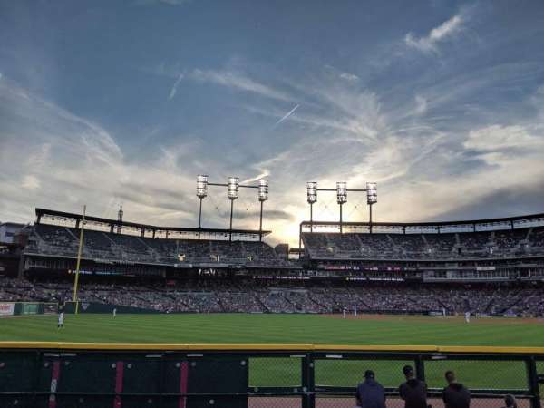 Comerica Park, section: 150, row: 1, seat: 14