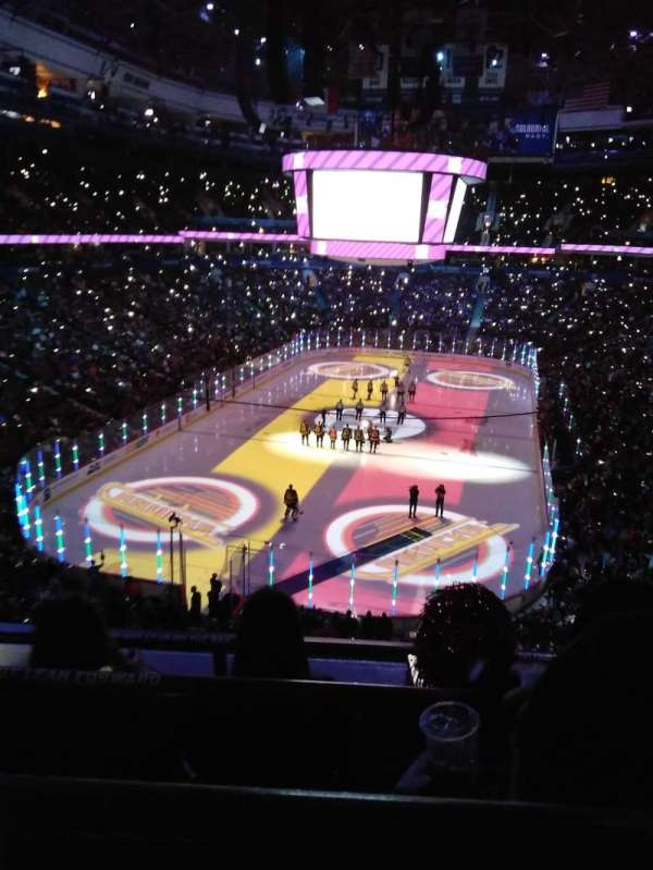 Rogers Arena, section: 330, row: 3, seat: 7