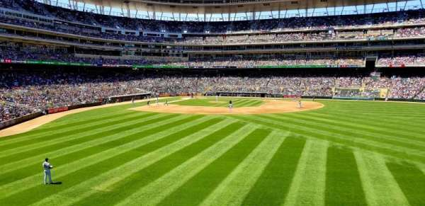 Target Field, section: 134, row: 1, seat: 17