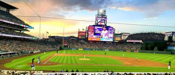 Coors Field, section: 125, row: 26, seat: 5