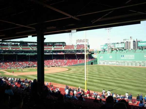 Fenway Park, section: Grandstand 6, row: 11, seat: 15
