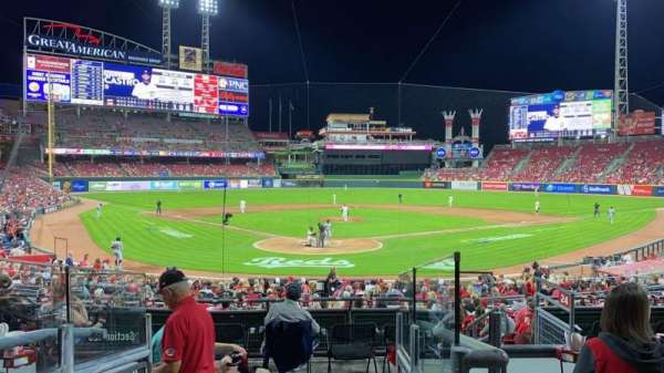 Great American Ball Park, section: 124, row: D, seat: 14
