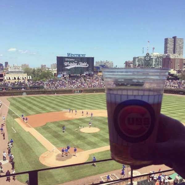 Wrigley Field, section: 320R, row: 2, seat: 4