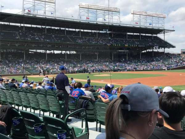 Wrigley Field, section: 134, row: 3, seat: 2