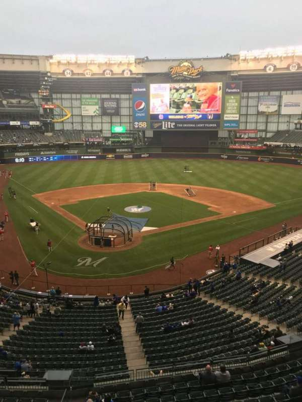 Miller Park, section: 327, row: 1, seat: 3