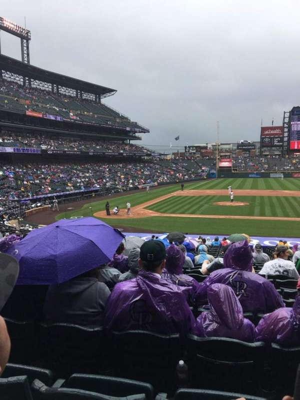 Coors Field, section: 124, row: 31, seat: 4