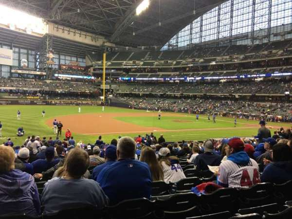 Miller Park, section: 124, row: 25, seat: 12