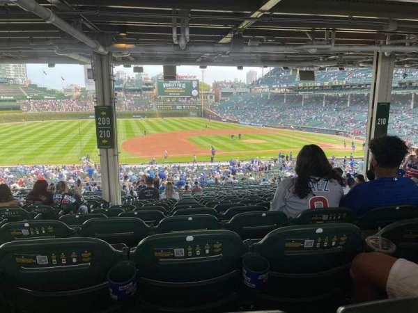 Wrigley Field, section: 210, row: 19, seat: 3
