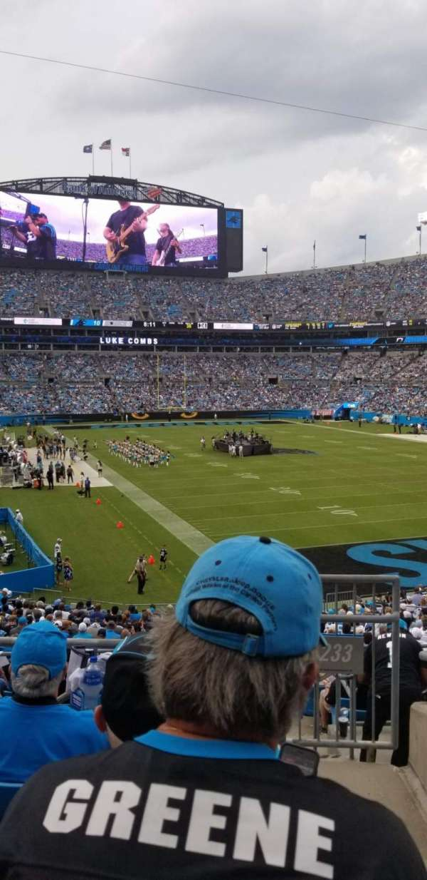 Bank of America Stadium, section: 233, row: 4, seat: 7