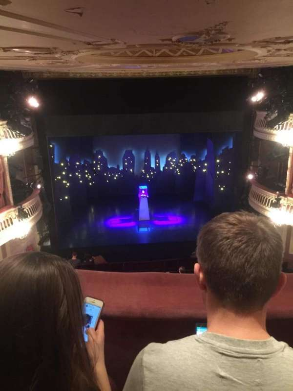 Criterion Theatre, section: Upper circle, row: B, seat: 18