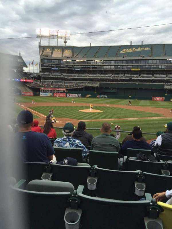 Oakland Coliseum, section: 116, row: 20, seat: 3