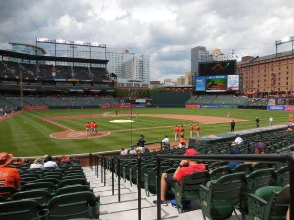 Oriole Park at Camden Yards, section: 32, row: 19, seat: 1